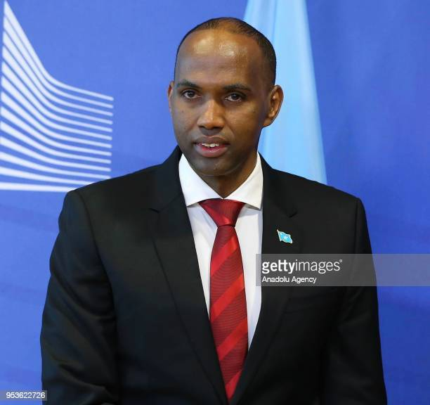 Prime Minister of Somalia Hassan Ali Khayre meets with High Representative of the European Union for Foreign Affairs and Security Policy Federica...