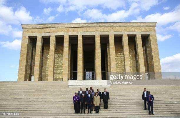 Prime Minister of Somalia Hassan Ali Khayre visits Ataturk's mausoleum Anitkabir in Ankara Turkey on October 27 2017