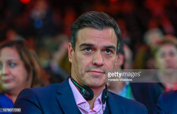 Prime Minister of Spain Pedro Sanchez at the Party of European Socialists PES Congress 2018 on December 08 2018 in Lisbon Portugal The XI PES...