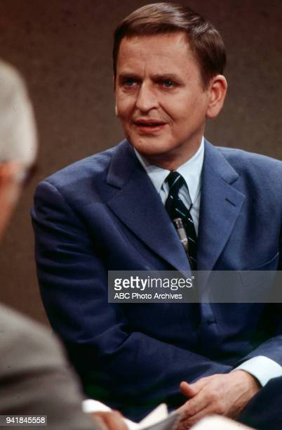 Prime Minister of Sweden Olof Palme on Walt Disney Television via Getty Images's 'Issues and Answers' program
