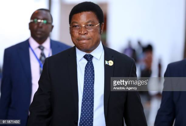 Prime Minister of Tanzania Kassim Majaliwa attends the closing session of the 30th African Union Heads of State and Government Summit in Addis Ababa...