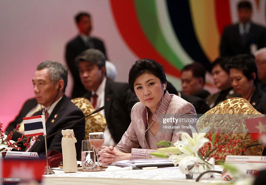 Prime Minister of Thailand Ms. Yingluck Shinawatra during the plenary session of the ASEAN-India Commemorative Summit on December 20, 2012 in New Delhi, India. The free trade agreement in services and investment between India and 10 ASEAN countries was finalised after intense negotiations. It would create one of the world's biggest free trade areas with a market of around 1.8 billion people and a combined gross domestic product of $2.8 trillion.