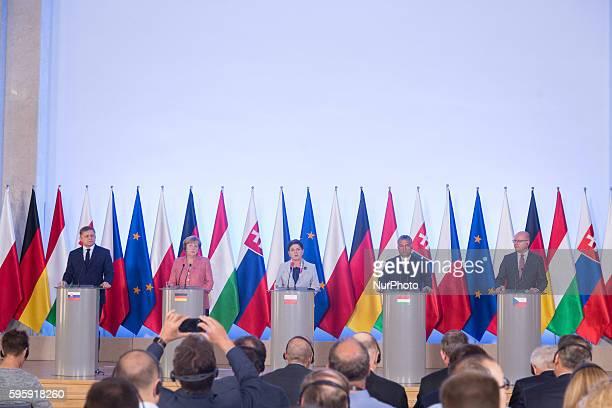 Prime Minister of the Czech Republic Bohuslav Sobotka , Prime Minister of Slovakia Robert Fico , Prime Minister of Hungary Viktor Orban , Prime...