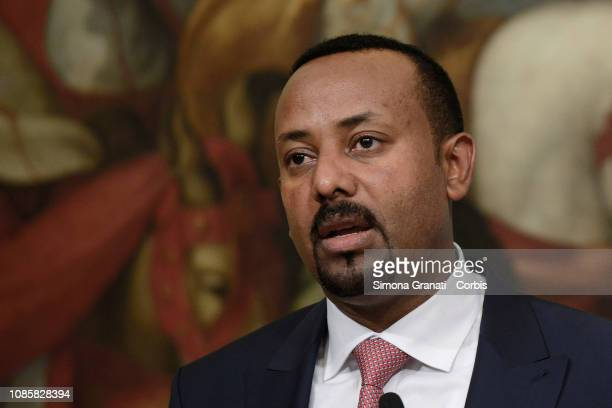 Prime Minister of the Federal Democratic Republic of Ethiopia, Abiy Ahmed AlMeeting at Palazzo Chigi during the meeting with the Italian Prime...