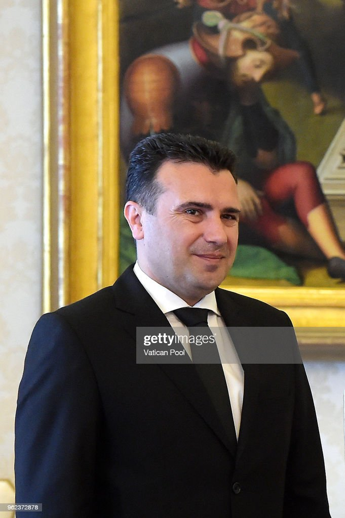 Pope Francis Meets Prime Minister of the Former Yugoslav Republic of Macedonia Zoran Zaev