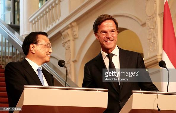 Maurits Hendriks Netherlands Prime Minister Mark Rutte L: Prime Minister Of The Netherlands Mark Rutte And Premier