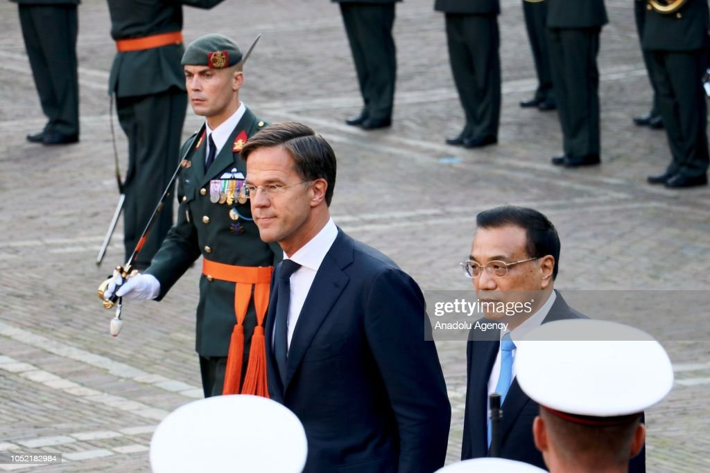 Maurits Hendriks Netherlands Prime Minister Mark Rutte L: Prime Minister Of The Netherlands Mark Rutte Welcomes
