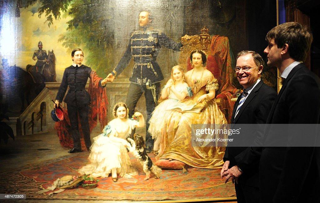 Prince Ernst August Of Hanover Celebrates 'Der Weg zur Krone' Exhibition Opening : News Photo