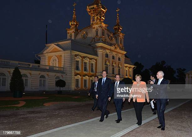 Prime Minister of the United Kingdom David Cameron , French President Francois Hollande Germany's Chancellor Angela Merkel and European Council...