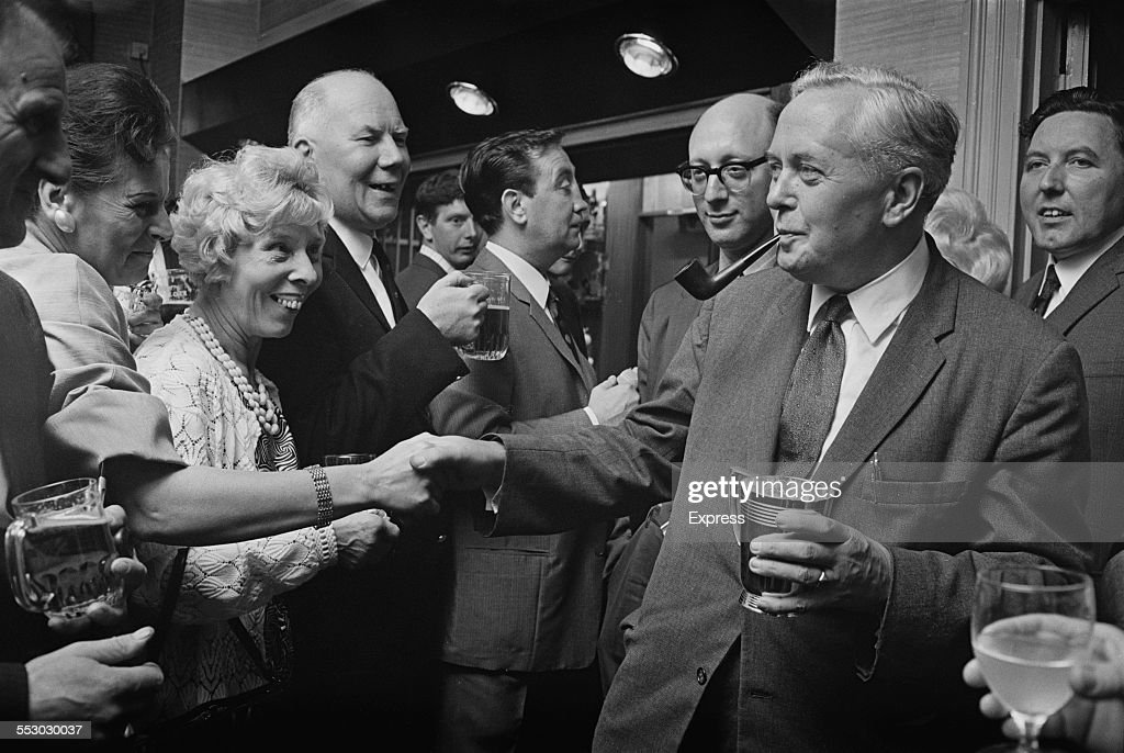 Prime Minister of the United Kingdom, Harold Wilson (1916 - 1995), opening the Bermondsey Labour Club, London, 1967.