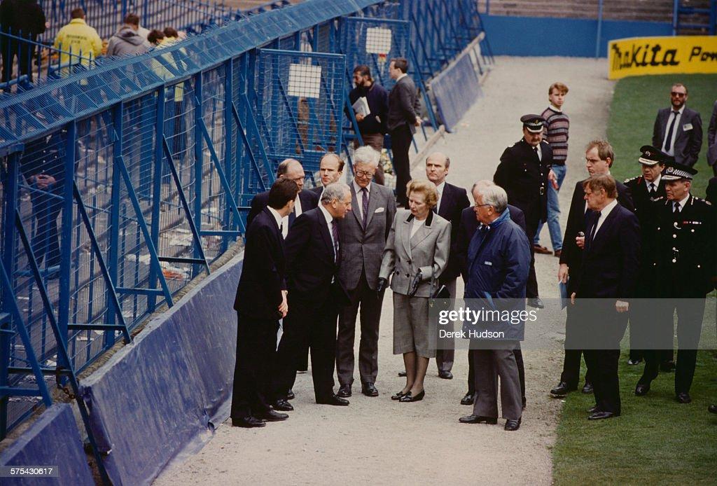 Thatcher In Hillsborough : News Photo