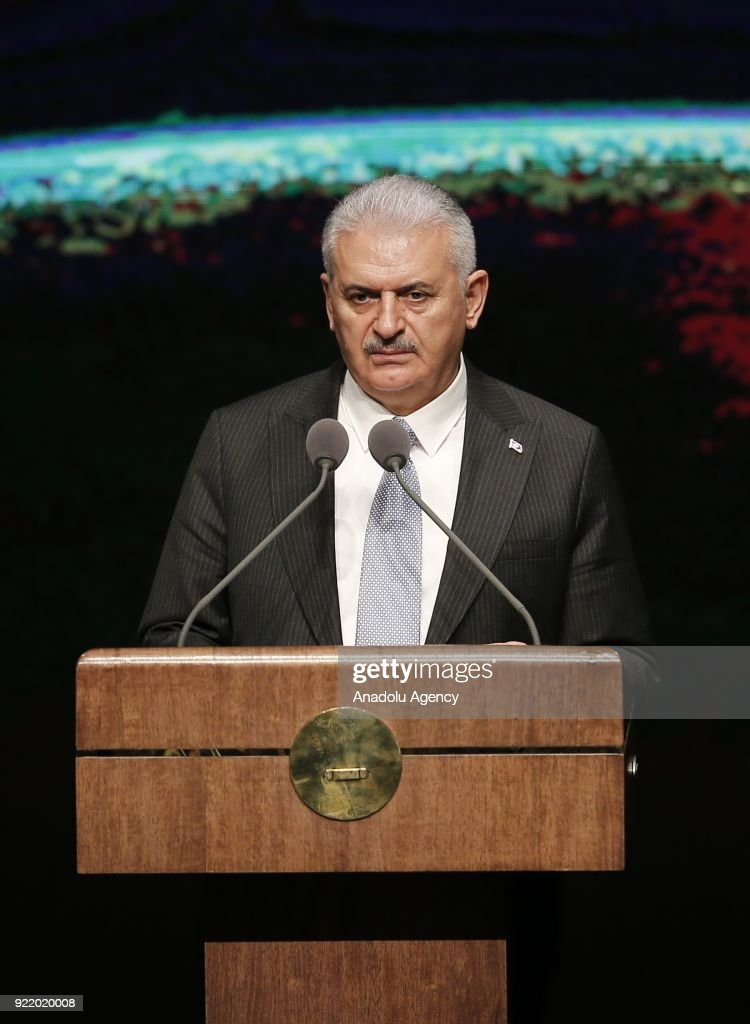 Prime Minister of Turkey Binali Yildirim...