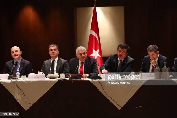 Prime Minister of Turkey Binali Yildirim Turkey's EU Minister and Chief Negotiator Omer Celik Turkey's Economy Minister Nihat Zeybekci Turkey'S...