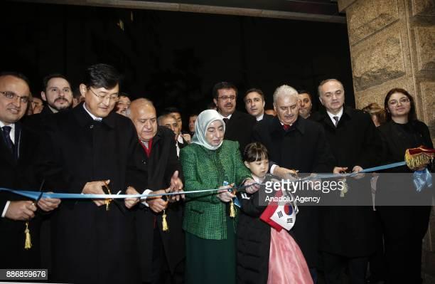 Prime Minister of Turkey Binali Yildirim Turkish Energy and Natural Resources Minister Berat Albayrak Turkish Economy Minister Nihat Zeybekci and...