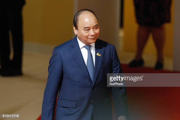 Prime Minister of Vietnam Nguyen Xuan Phuc is seen at the welcoming ceremony of the G20 summit in Hamburg Germany on 7 July 2017