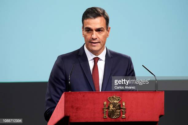 Prime Minister Pedro Sanchez attends the reading of the Spanish Constitution for the 40th anniversary of its approval by the Congress at the...