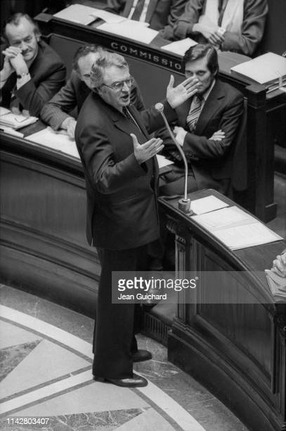 Prime Minister Pierre Mauroy at the National Assembly.