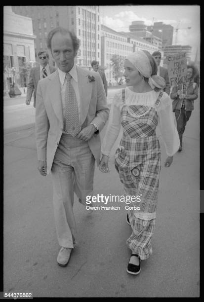 Prime Minister Pierre Trudeau and his wife Margaret campaign in Montreal during the elections of 1976