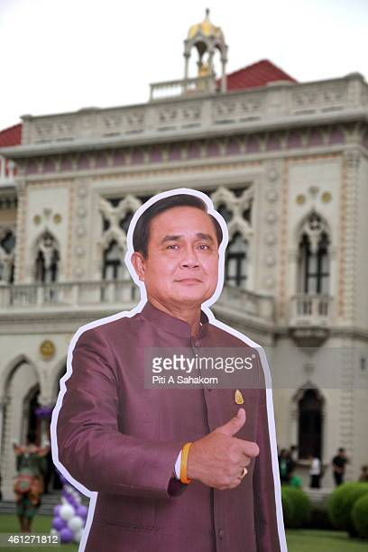 Prime Minister Prayut Chanocha cardboard cutout during National Children's Day at The Government House in BangkokThe National Children's Day in...