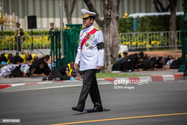Prime Minister Prayut ChanOcha is seen taking part of the Royal Ceremony as they transfer the Thailand's Late King Bhumibol Adulyadej's ashes and...