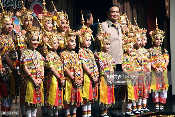 Prime Minister Prayut Chanocha pose for photograph with children during National Children's Day at The Government House in Bangkok The National...
