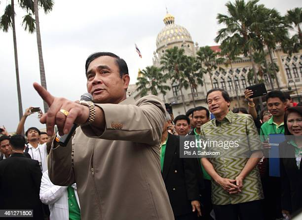 Prime Minister Prayut Chanocha sing during National Children's Day at The Government House in Bangkok The National Children's Day in Thailand marked...