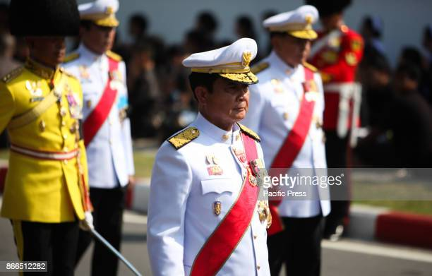 GRANDPALACE BANGKOK THAILAND Prime Minister Prayuth Chanocha marches in the royal cremation procession of late King Bhumibol Adulyadej at the Grand...