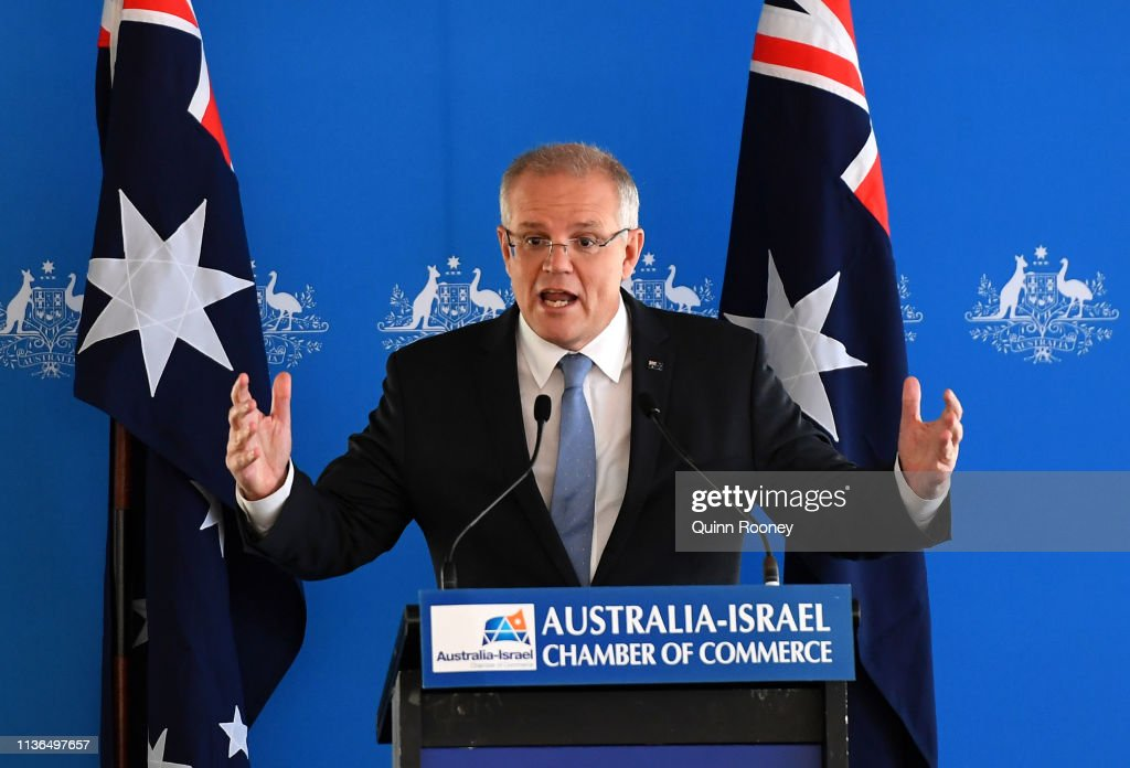 AUS: Prime Minister Scott Morrison Speaks At Australia-Israel Chamber Of Commerce