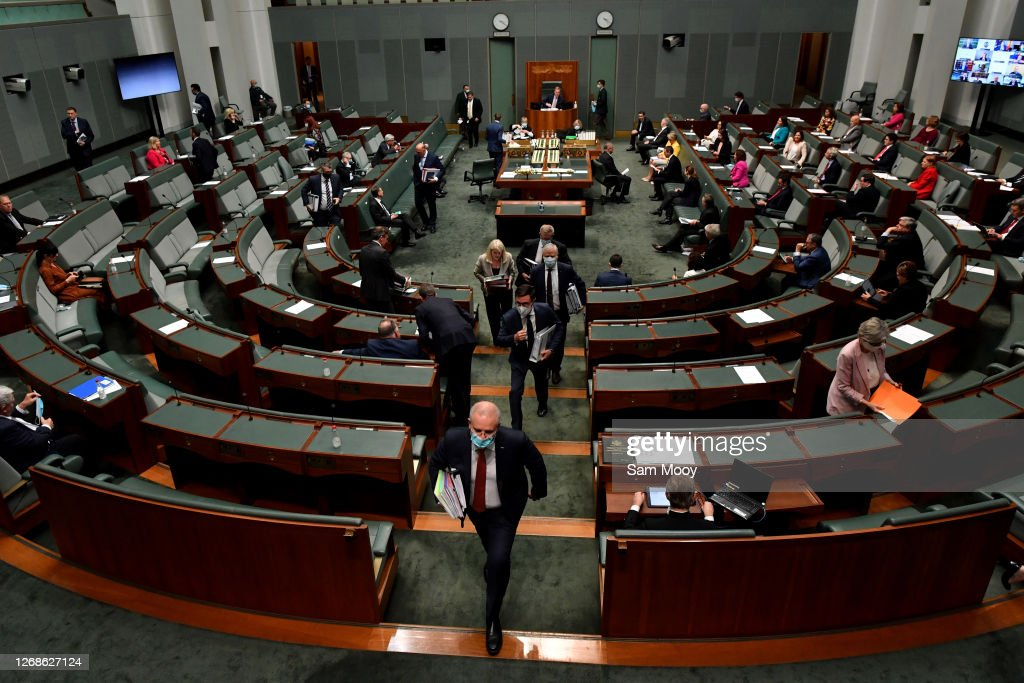 Question Time As Parliament Resumes : News Photo