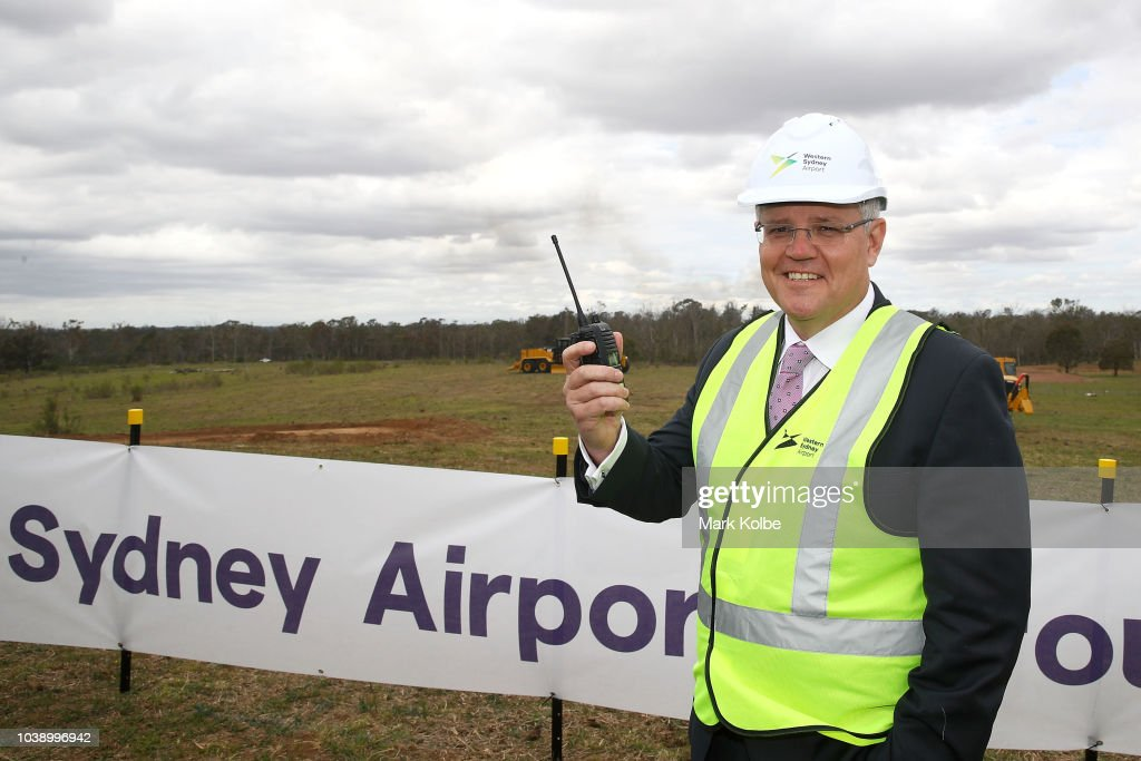 Prime Minister Scott Morrison Attends Sod Turning Ceremony As Western Sydney Airport Construction Begins