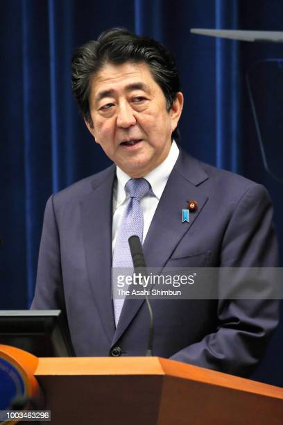 Lawmakers vote in the noconfidence motion against the Abe cabinet at the Lower House on July 20 2018 in Tokyo Japan The bills to allow up to three...