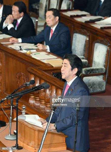 Prime Minister Shinzo Abe stresses the need to enact a bill that would punish the planning of certain crimes ostensibly as a counterterrorism measure...
