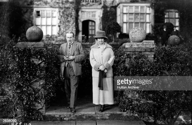 Prime Minister Stanley Baldwin with his wife at Chequers the prime minister's residence