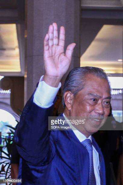 Prime Minister Tan Sri Muhyiddin Yassin waves at Putra Perdana on his first day as the Prime Minister Tan Sri Muhyiddin Yassin was appointed as the...