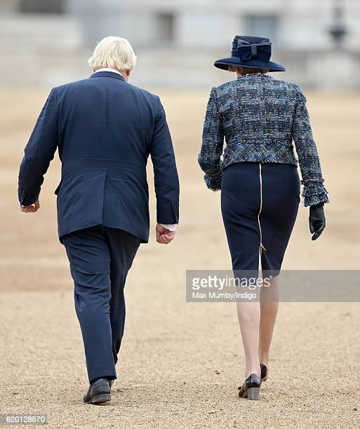 Prime Minister Theresa May and Foreign Secretary Boris Johnson attend the Ceremonial Welcome for the President of Colombia at Horse Guards Parade on...