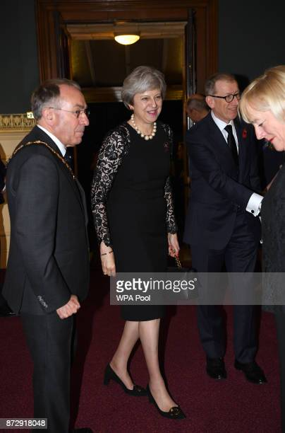 Prime Minister Theresa May and her husband Philip May arrive at the annual Royal Festival of Remembrance to commemorate all those who have lost their...