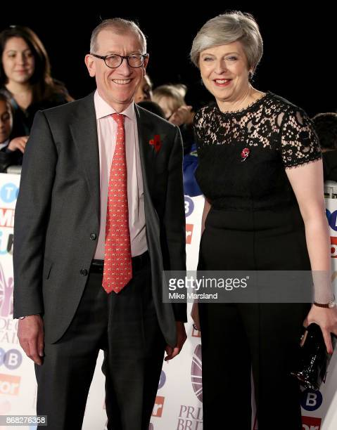 Prime Minister Theresa May and husband Philip May attend the Pride Of Britain Awards at Grosvenor House on October 30 2017 in London England