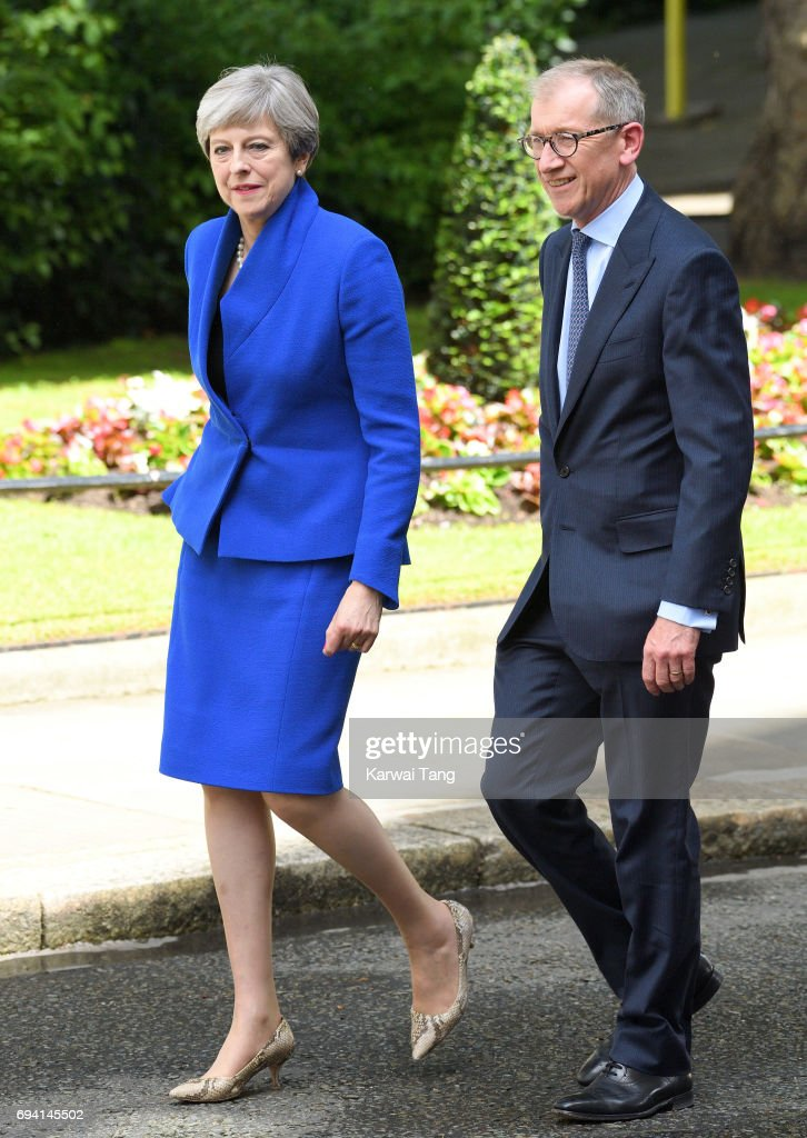 Theresa May Seeks Queen's Permission To Form A Coalition Government : News Photo