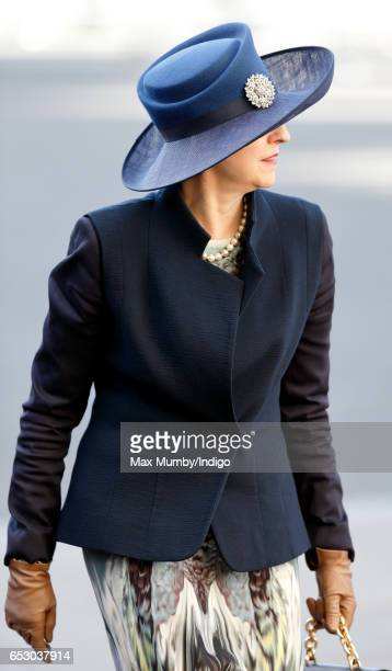 Prime Minister Theresa May attends the Commonwealth Day Service at Westminster Abbey on March 13 2017 in London England