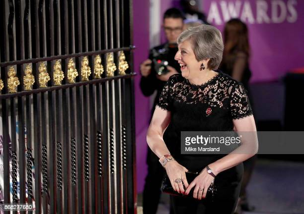 Prime Minister Theresa May attends the Pride Of Britain Awards at Grosvenor House on October 30 2017 in London England