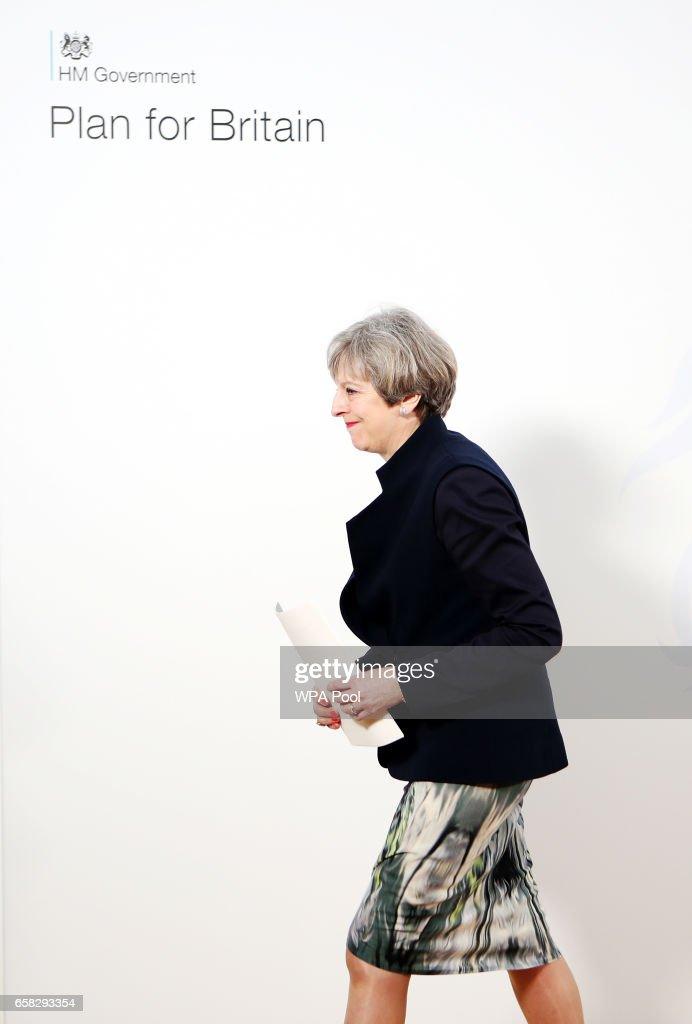 Theresa May Visits Scotland Ahead Of Triggering Article 50 Later This Week : News Photo