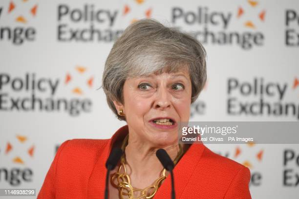 Prime Minister Theresa May gives a speech in central London in response to the Post18 Education and Funding review