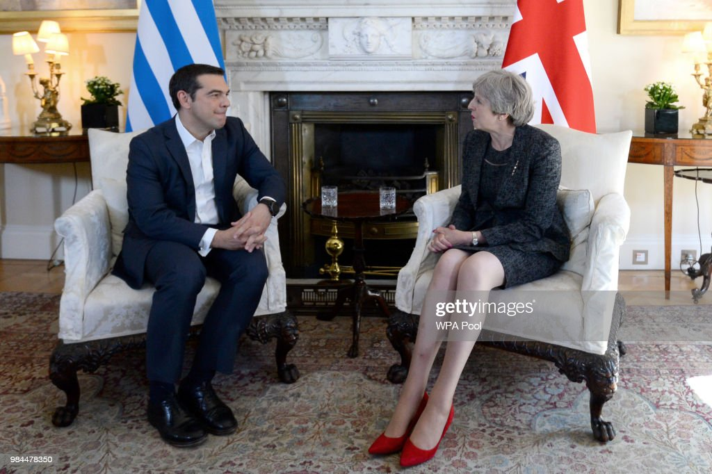 GBR: Theresa May Welcomes The Greek Prime Minister To Downing Street