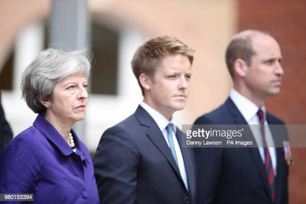 Prime Minister Theresa May Hugh Grosvenor 7th Duke of Westminster and the Duke of Cambridge during the official handover to the nation of the newly...