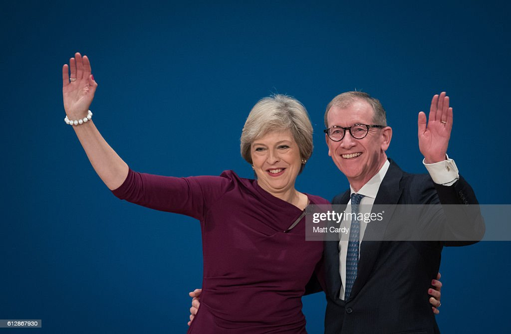Conservative Leader Theresa May Addresses Party Conference : News Photo
