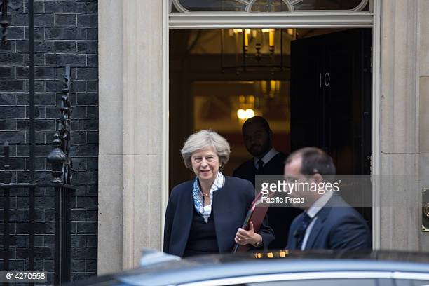 Prime Minister Theresa May leaves 10 Downing Street Theresa Mary May is the current Prime Minister of the United Kingdom and the Leader of the...