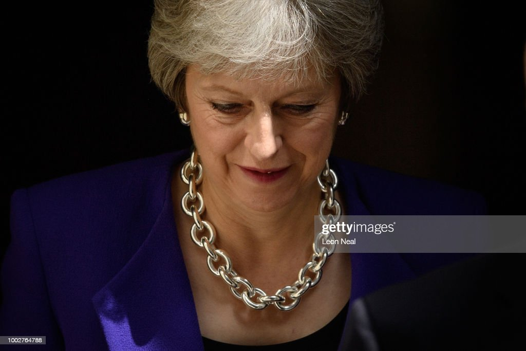 Theresa May Attends The Last PMQs Before The House Rises For Summer