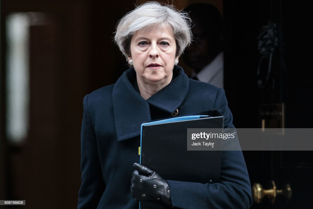 British Prime Minister Leaves Downing Street : News Photo