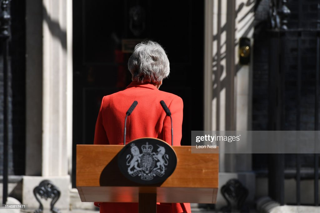 British Prime Minister Announces The  Details Of Her Resignation : News Photo