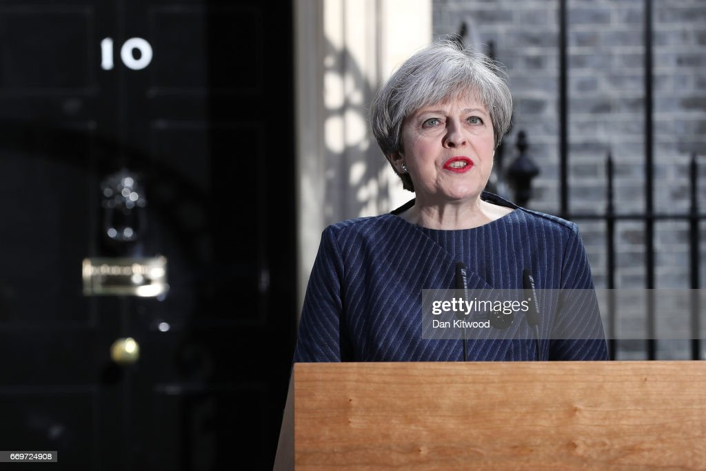 Theresa May Announces A General Election : News Photo
